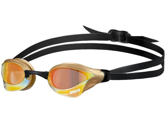 arena Cobra Core Swipe Mirror Swimglasses yellow copper/gold